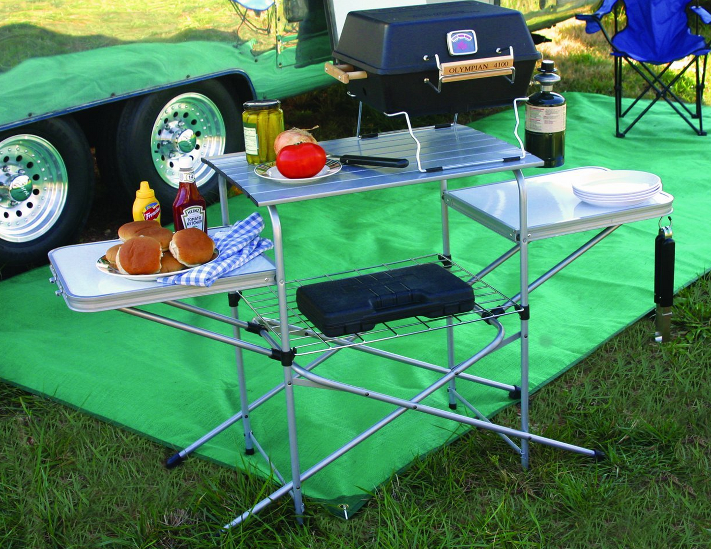 Today Only Camco Deluxe Grilling Table Only $47.60 (Reg. $141.88!)