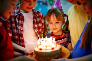Birthday party via shutterstock