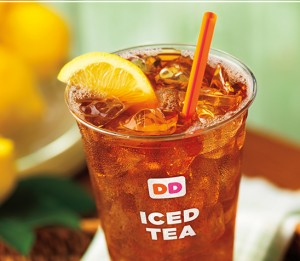 Score FREE iced tea at Dunkin' Donuts today!