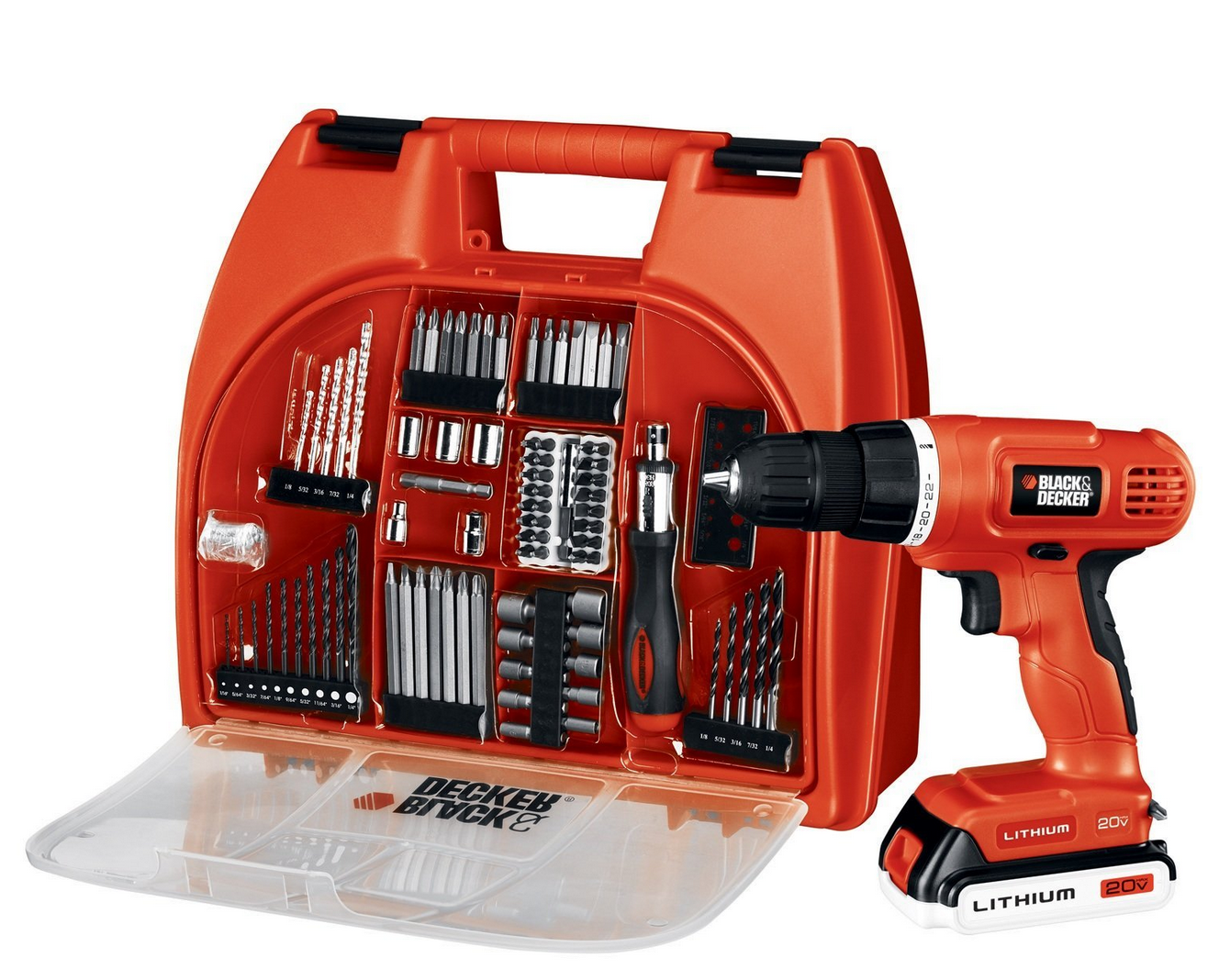 HOT! Black & Decker 20-Volt MAX Lithium-Ion Drill Kit With 100 Accessories Only $62.99 (Reg. $139!) + FREE Shipping!