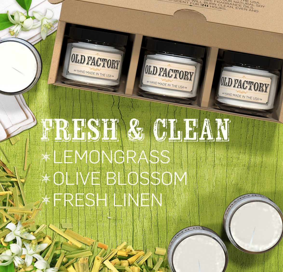 "Highly Rated 3-Pack of ""FRESH & CLEAN"" Candles Only $27.97 (Reg. $40!)"