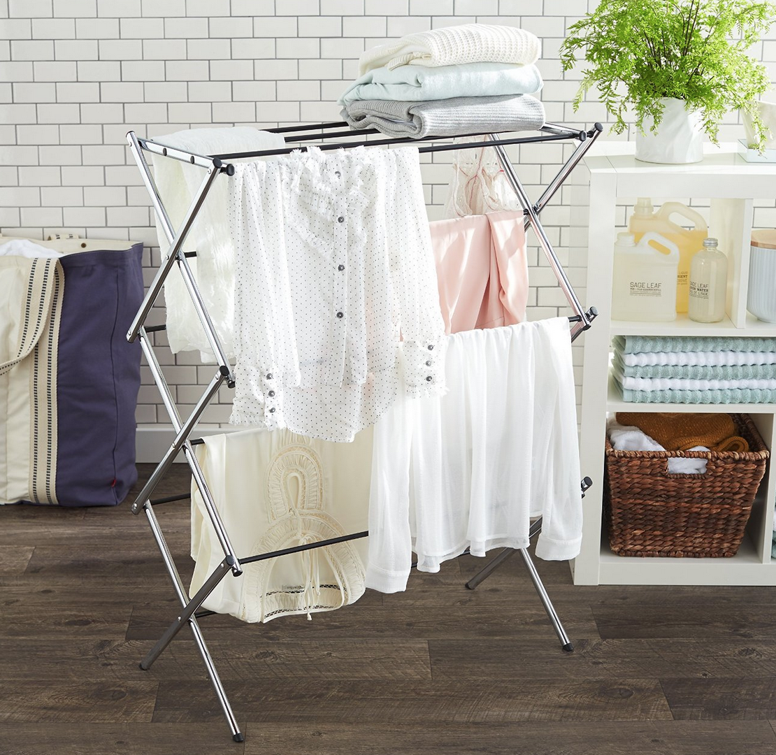 AmazonBasics Foldable Drying Rack Only $25.99 – Lowest Price!