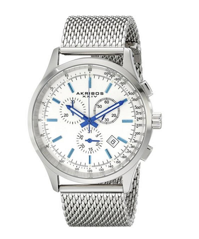 $49.99–$54.99 Akribos XXIV Men's Mesh Watches for Dad!