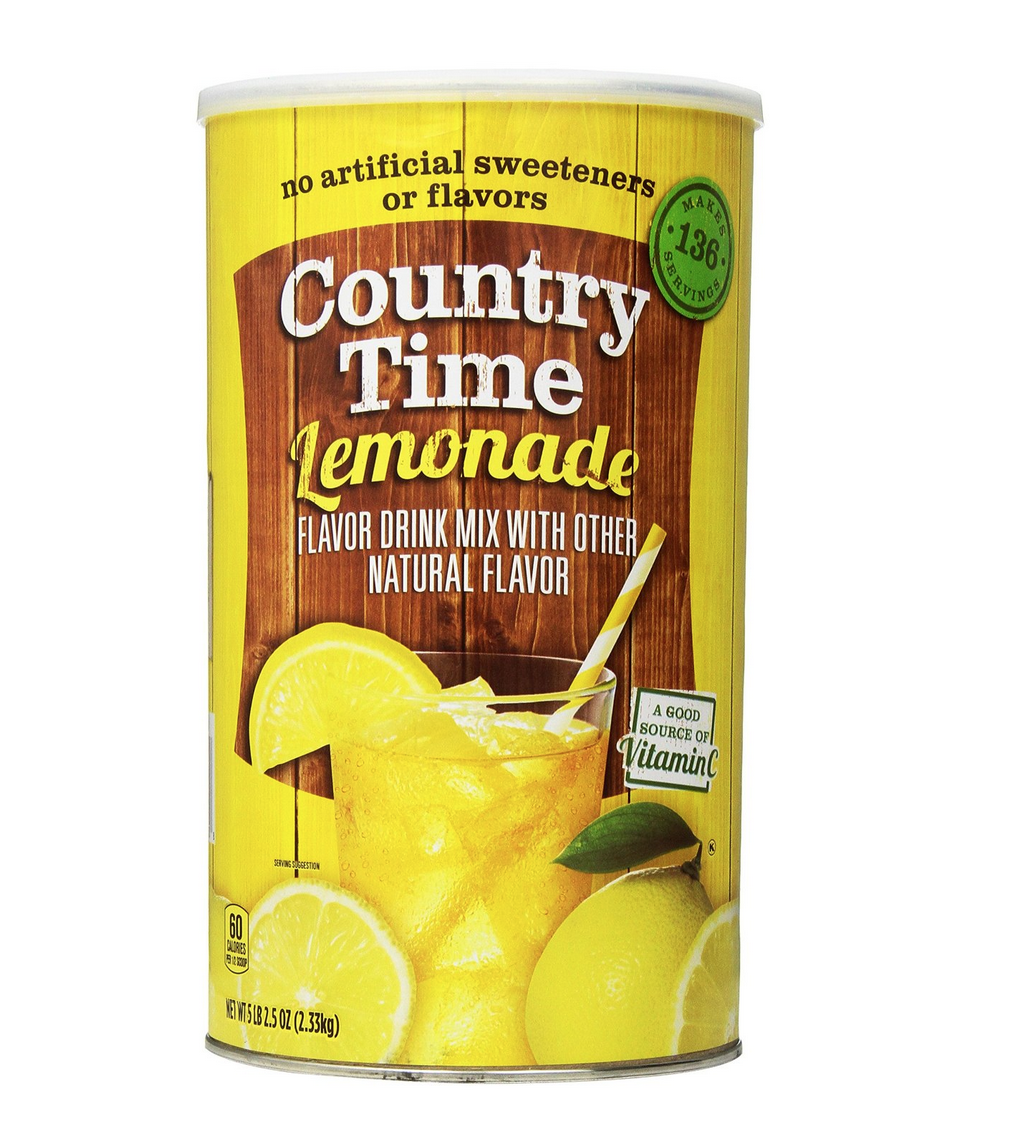 HUGE 82.5 Oz. Canister of Country Time Lemonade Drink Mix Only $4.12 + FREE Shipping