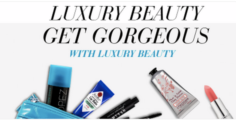 $10 off a $50+ Luxury Beauty Purchase w/Promo Code!