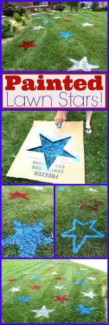 painted lawn stars