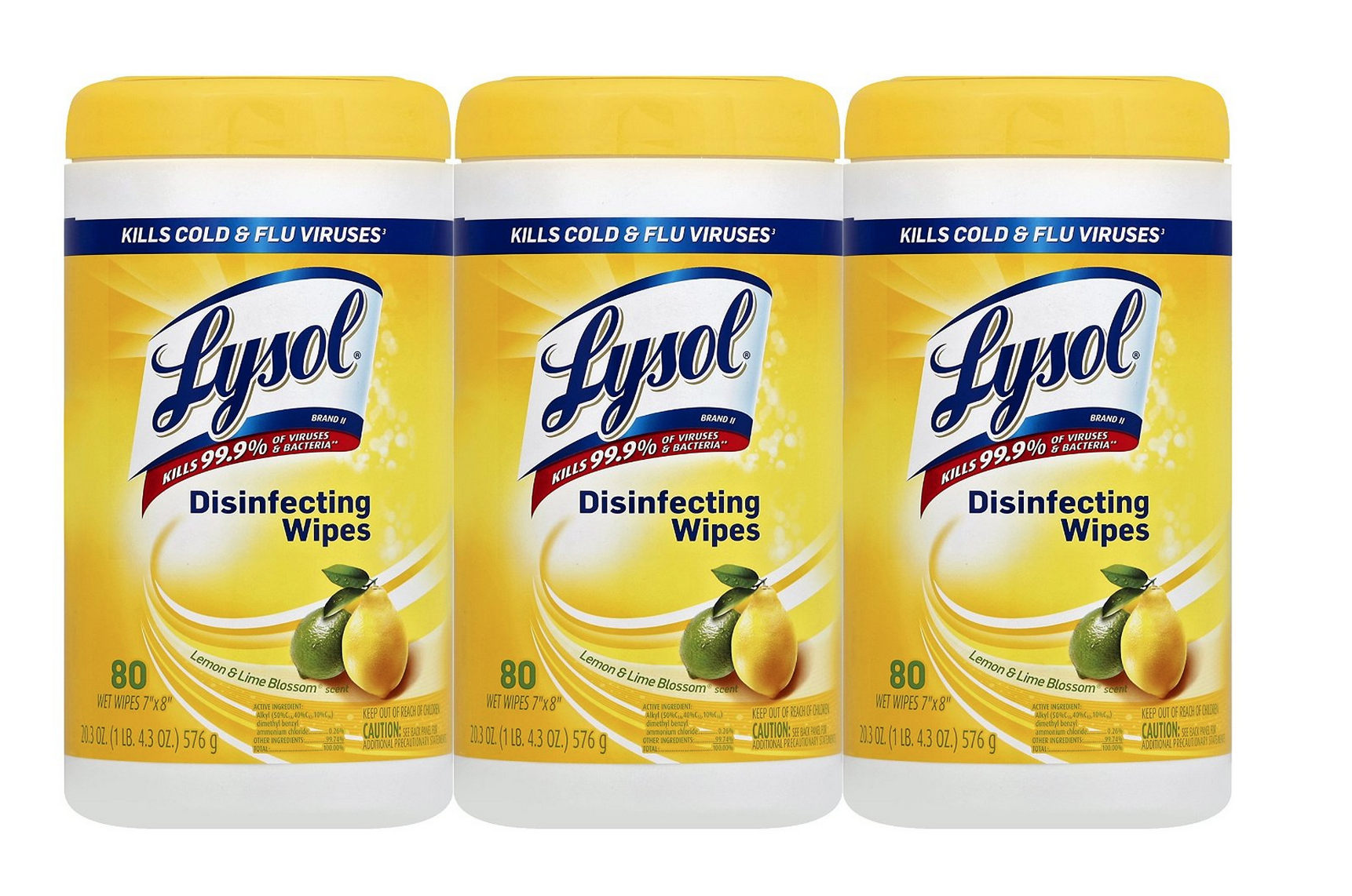 3 Canisters of Lysol Disinfecting Wipes Only $7.48 (Reg. $13.99!)