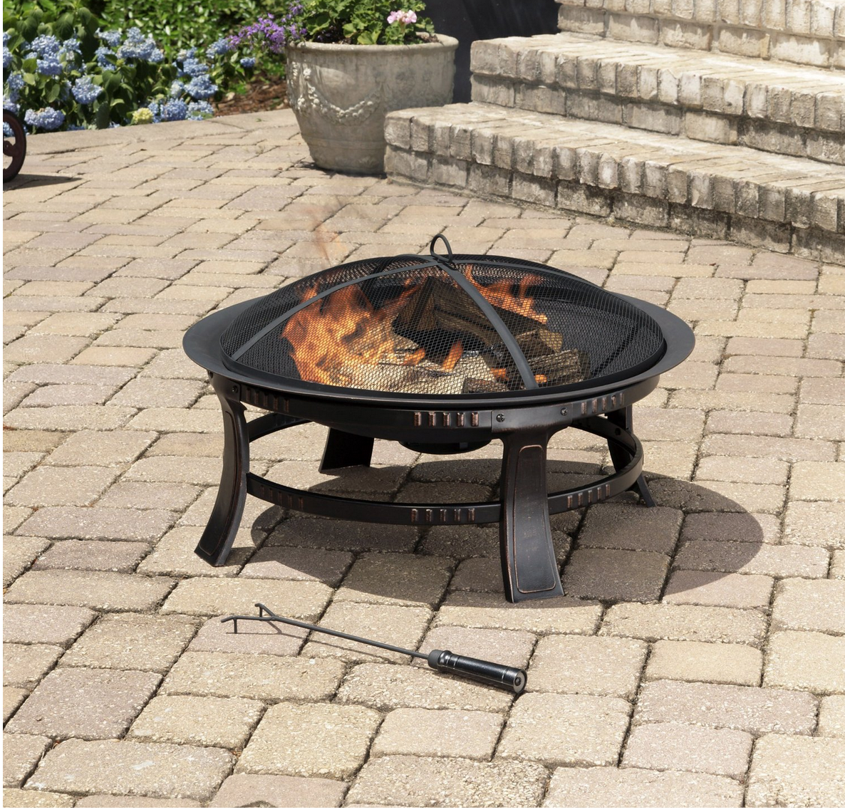 Pleasant Hearth Brant Round Fire Pit, 30-Inch Only $64.88 (Reg. $119.99!)