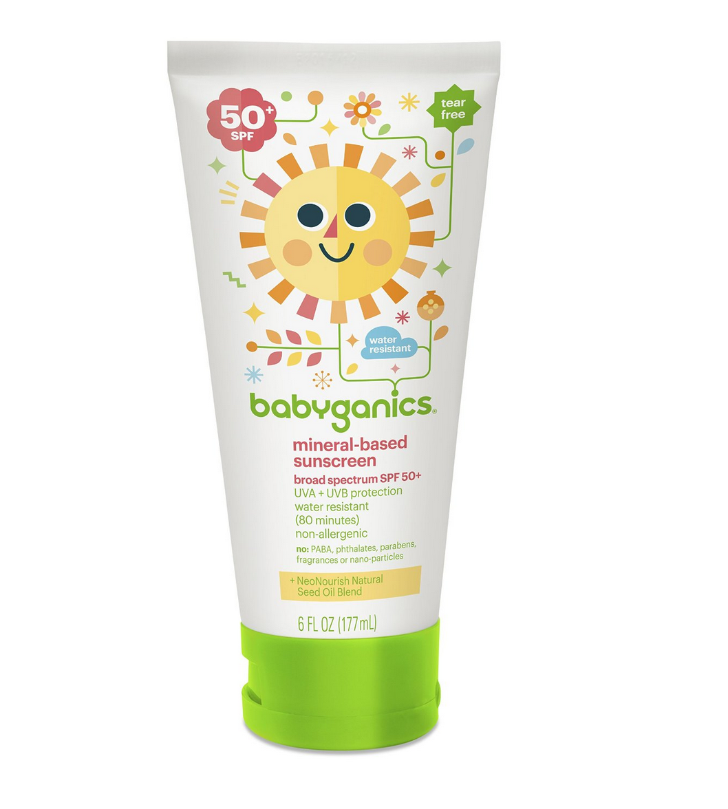 Pack of 2 Babyganics Mineral-Based Baby Sunscreen Lotion, SPF 50 Only $11.98 (Reg. $22.98!)