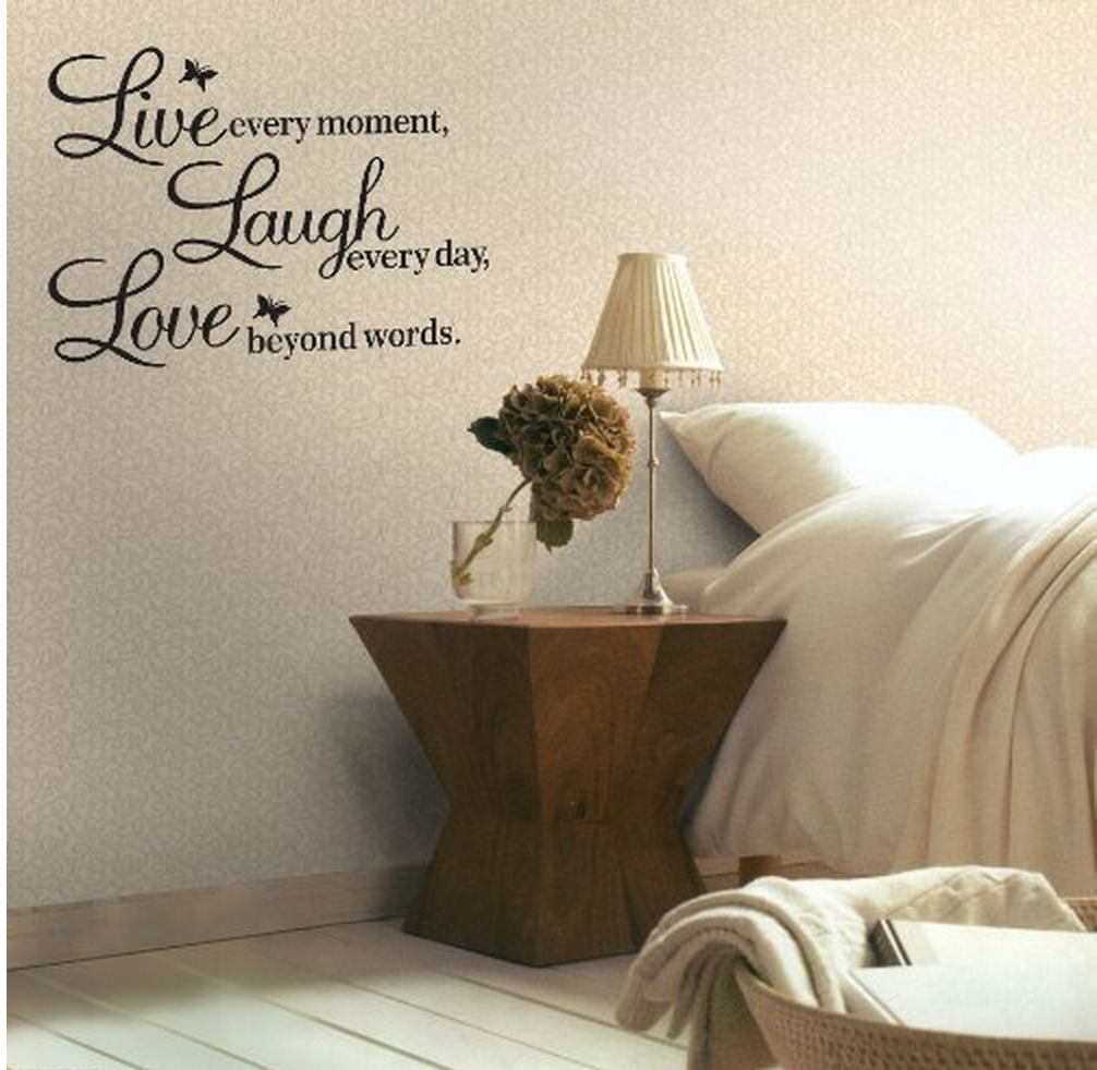 Meco Vinyl Decal Live, Laugh, Love Wall Quote Only $1.92!