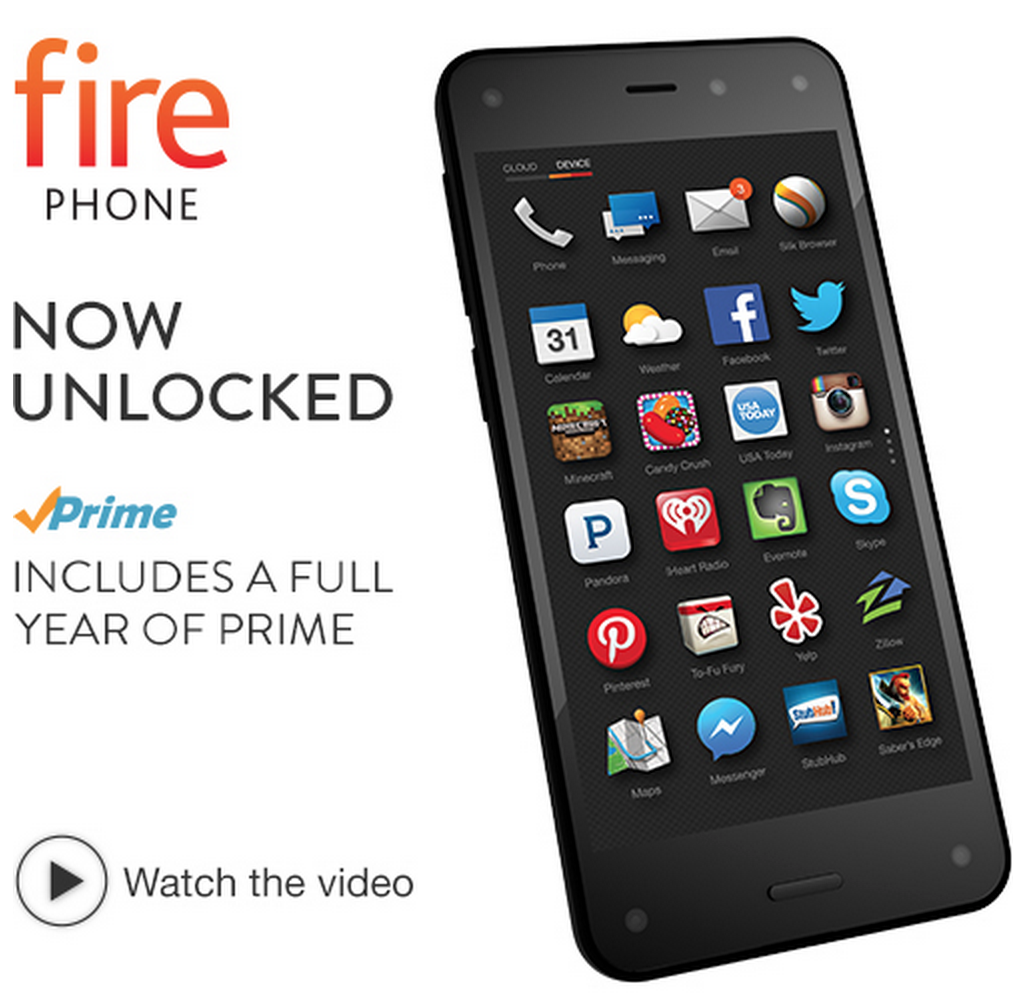 Amazon Fire Phone + FREE Year of Amazon Prime Only $159 Shipped (Reg. $ 449!)