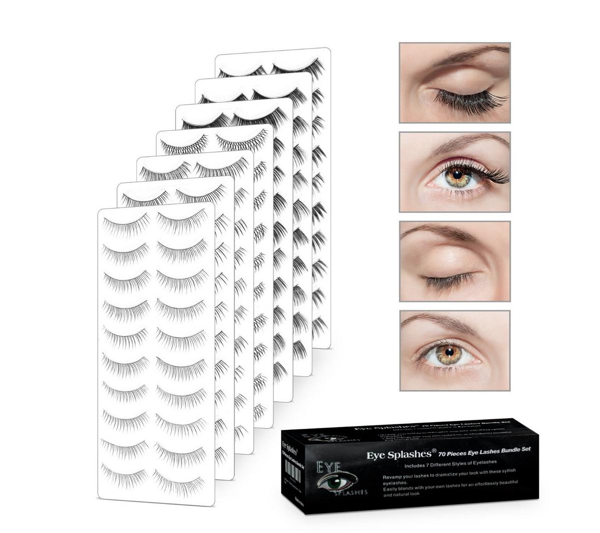 Eye Splashes 70 Pairs of False Eye Lashes Bundle – 7 Styles Only $11.99 (Reg. $24.95!)