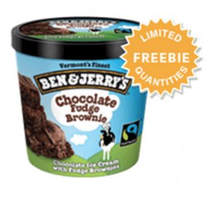 Score a FREE Ben & Jerry's mini cup today! Yum!