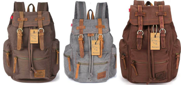 Vintage Canvas Backpack with Leather Straps Only $29.99 Shipped (Reg. $49.99!) + More!