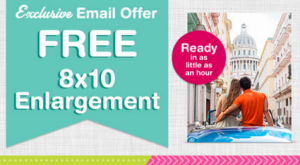 Snag a FREE 8x10 photo print from Walgreens today!