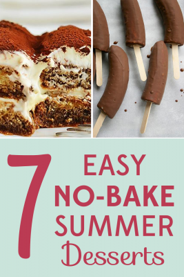 It's too hot to turn on the oven, but that doesn't mean your only dessert choice is ice cream! Try these 7 no-bake summer dessert recipes!