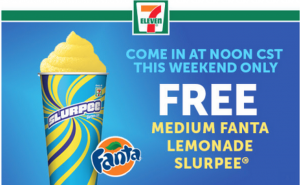 Snag a FREE Fanta slurpee at 7-Eleven today. Yum!