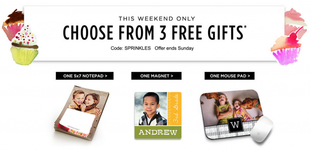 Score 3 FREE custom photo gifts from Shutterfly today!