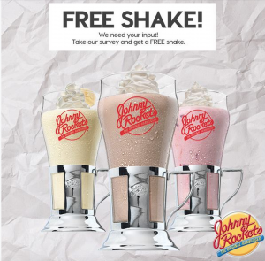 Score a FREE shake at Johnny Rockets today. Yum!