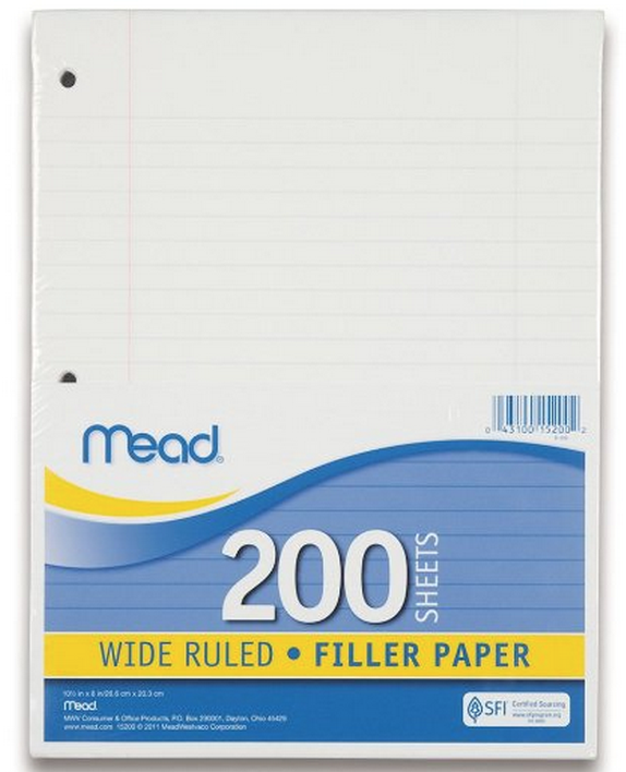 Mead Filler Paper, 200 Sheet Pack Only $3.06 (Reg. $5.39!) + More Back-to-School Deals!