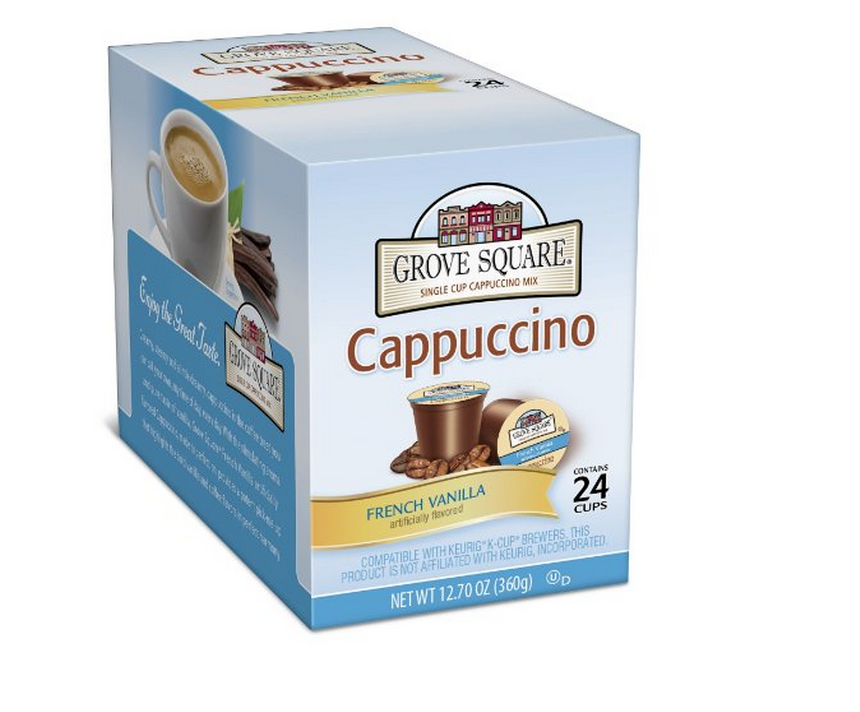 24-Pack of Grove Square Cappuccino, French Vanilla KCups Only $5.69 + FREE Shipping (Just 24¢ Each!)