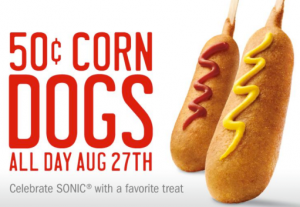 Today you can score 50 hot dogs at Sonic!