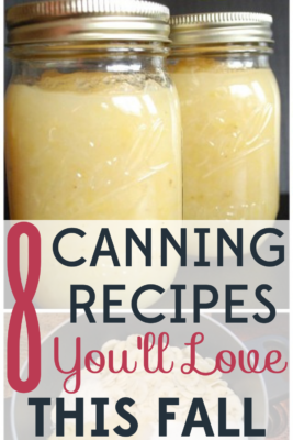 These canning recipes are the perfect way to make use of leftover fruits and vegetables from your garden.
