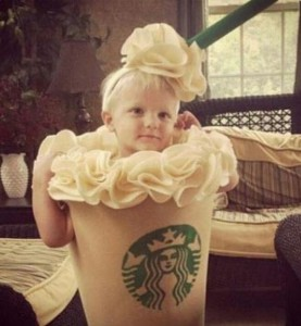 Starbucks latte costume