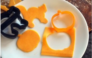Cheese in Halloween shapes