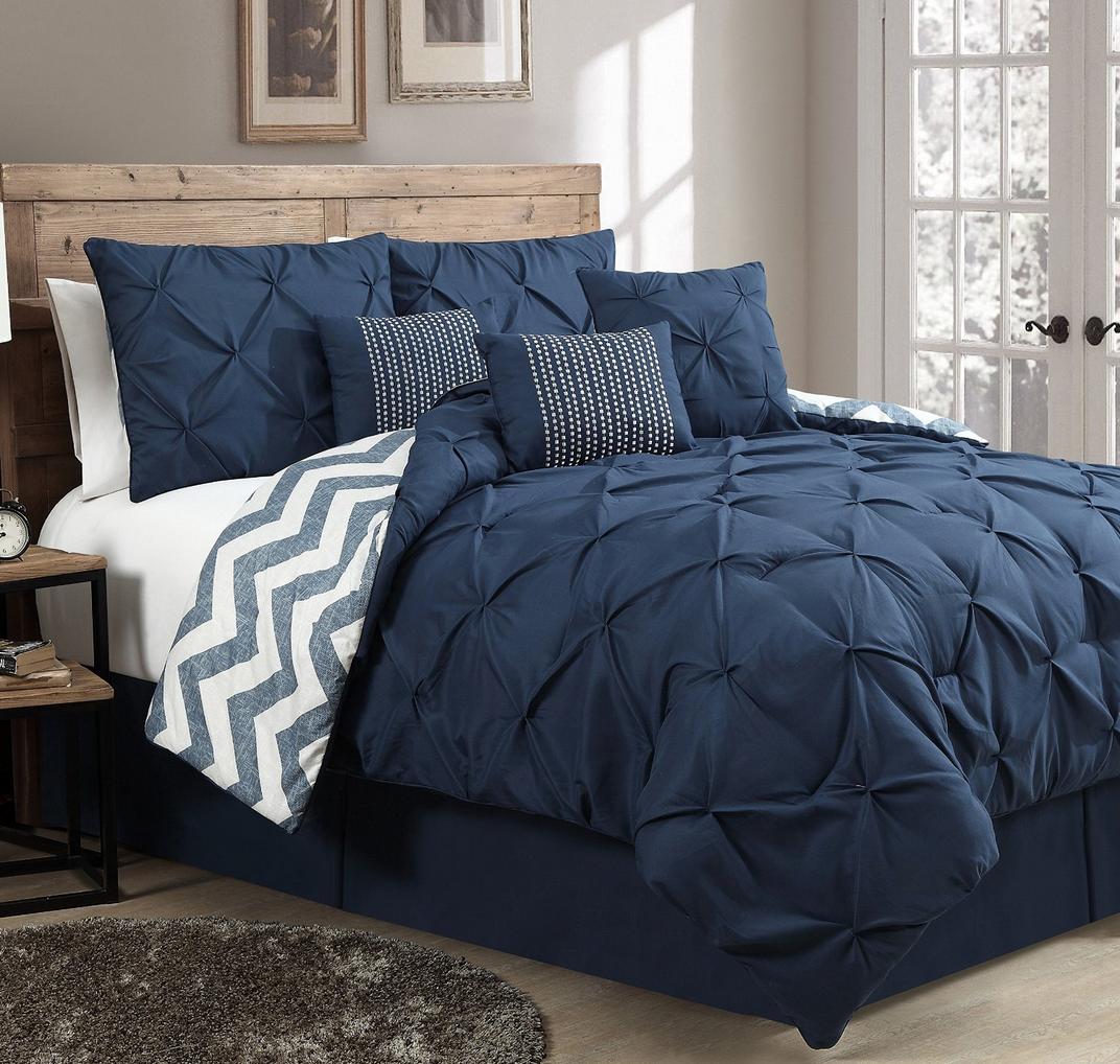 Geneva Home Fashion 7-Piece Ella Pinch Pleat Comforter Set Only $61.53 (Reg. $199!)