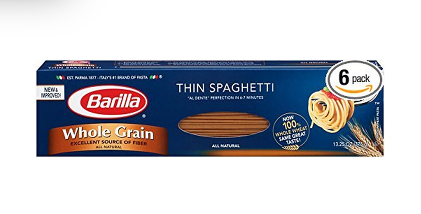 6-Pack of Barilla Whole Grain Thin Spaghetti Only $4.10!