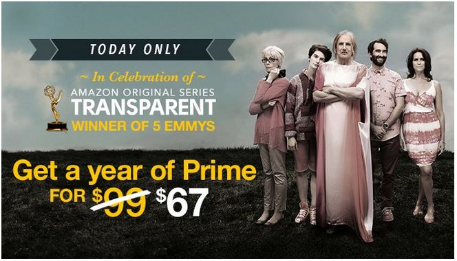 HOT! One Year Amazon Prime Membership Only $67 For New Members (Reg. $99!) – Today Only!