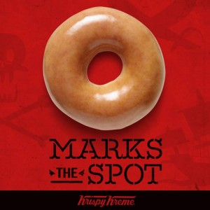 Snag FREE Krispy Kreme doughnuts today. Yum!