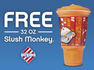 Snag a FREE slushie at Stripes stores today. Yum!