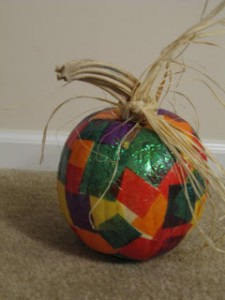 Patchwork pumpkin from The Baker, The Baker & The Craft Maker