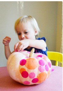 Tissue paper pumpkin by Young Family