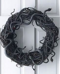 Creepy snake wreath from Martha Stewart