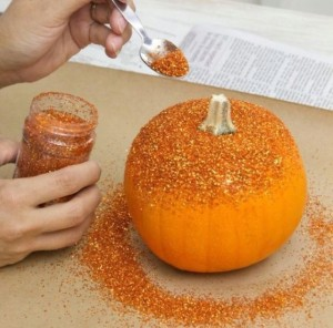 Glitter pumpkin from HGTV