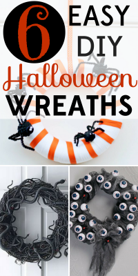 Don't pay scary prices for Halloween wreaths! These 6 easy DIY Halloween wreaths are sure to spook anyone who comes to your front door!