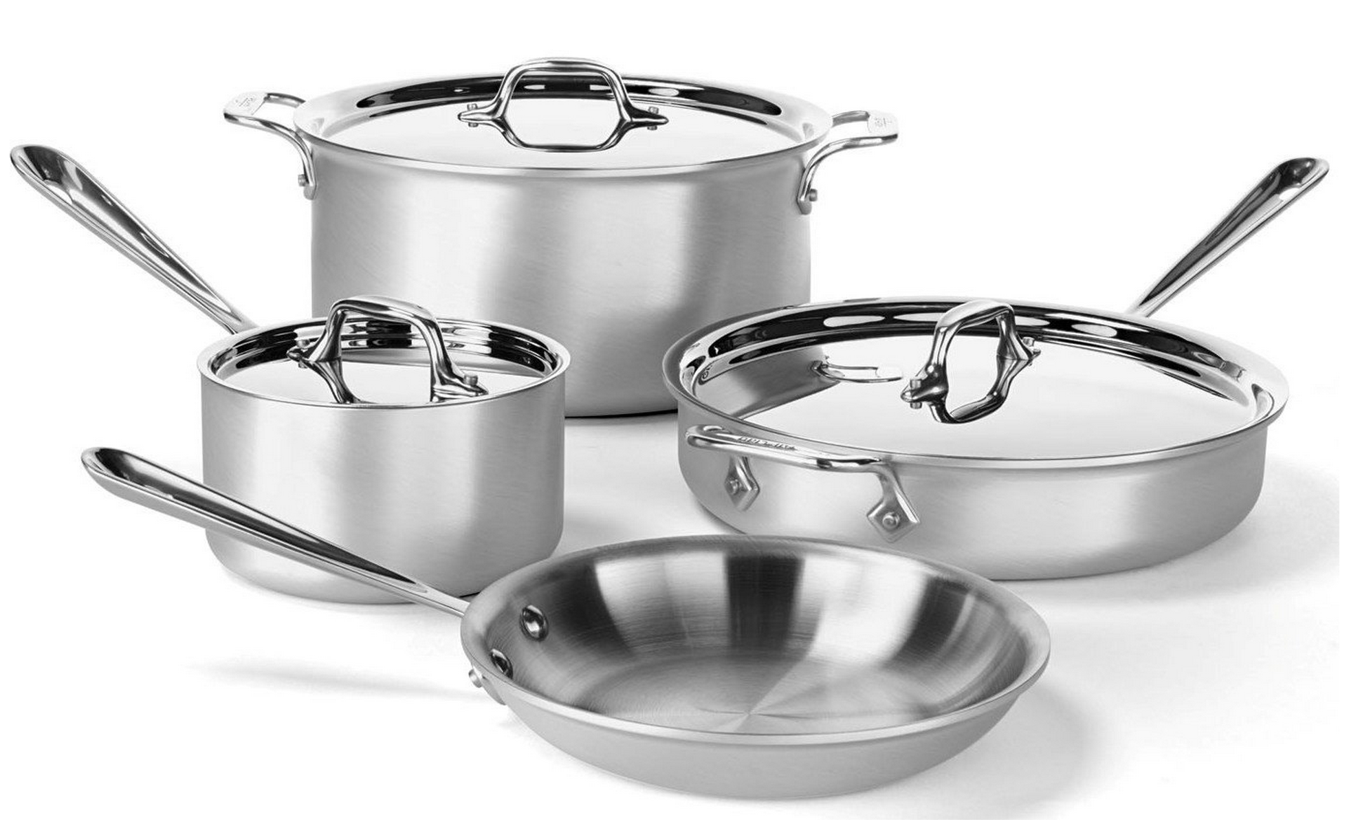7 Piece All Clad Professional Cookware Set Only 299 99