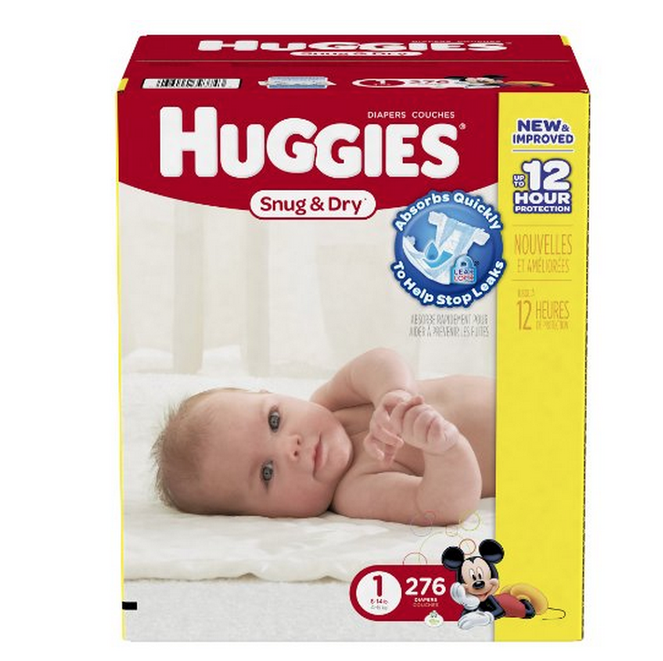 276-Pack of Huggies Snug and Dry Diapers Only $23.20 + FREE Shipping (Just 7¢ Each!)