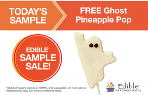 Score a FREE Ghost Pineapple Pop today. Yum!