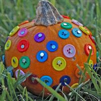 Buttoned-up pumpkin from hands on: as we grow