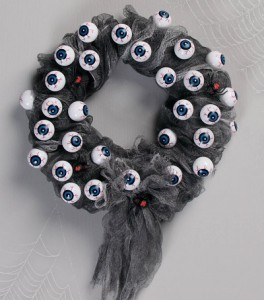 Eyeball wreath from Best Halloween Store