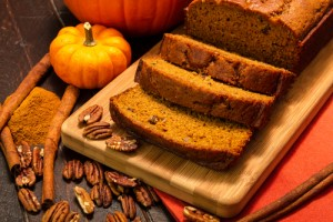 Pumpkin bread via Shutterstock