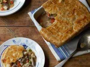 Turkey pot pie recipe from The Food Network