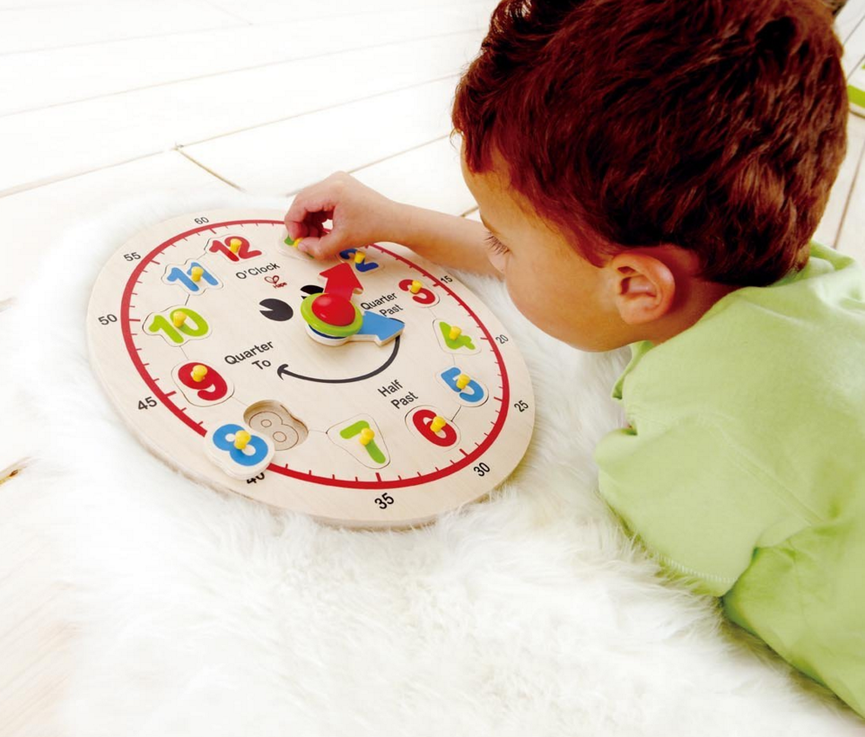 50% Off Select Hape Preschool Toys = Happy Hour Clock Only $7.50!