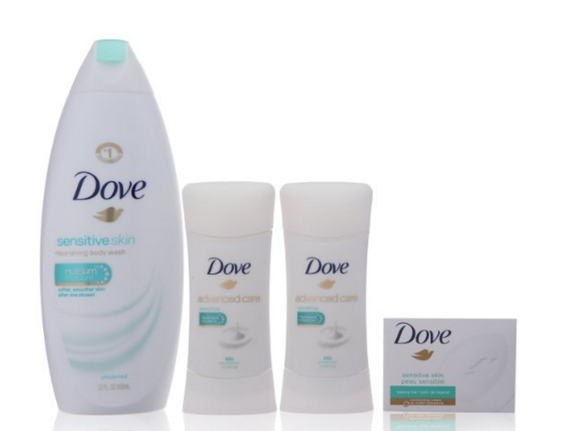 Dove Beauty Bundle, Sensitive Skin Only $12.59 (Reg. $16.79!)