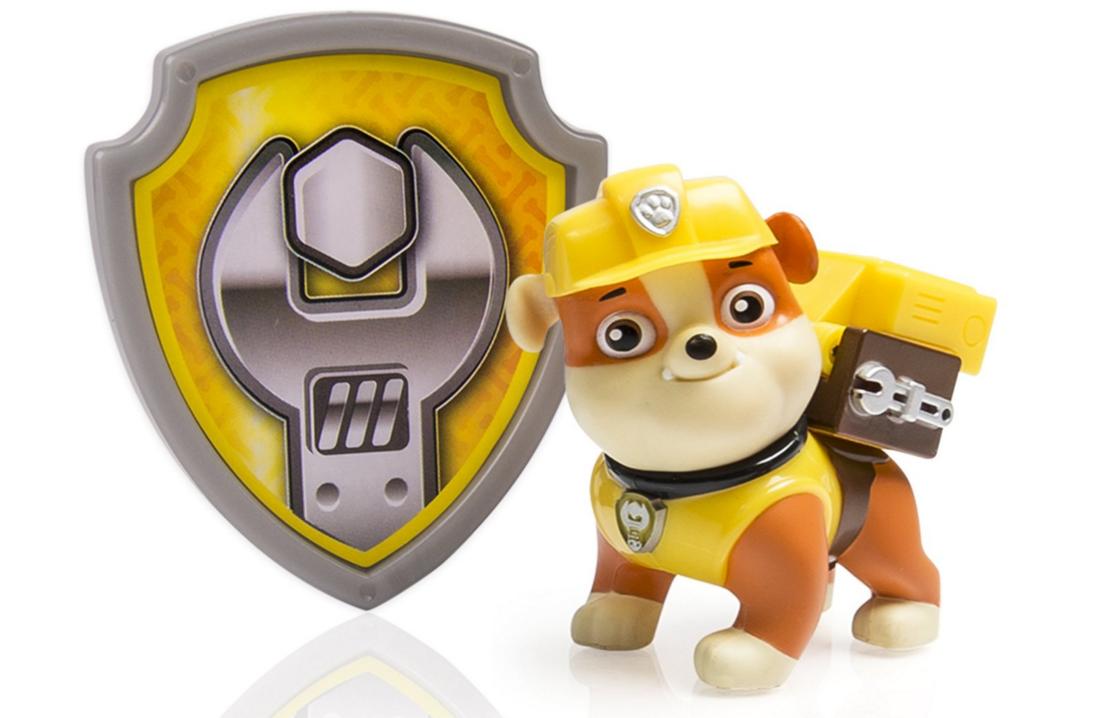 Free Paw Patrol Rubble Pub & Badge w/Paw Patrol Toy Purchase!