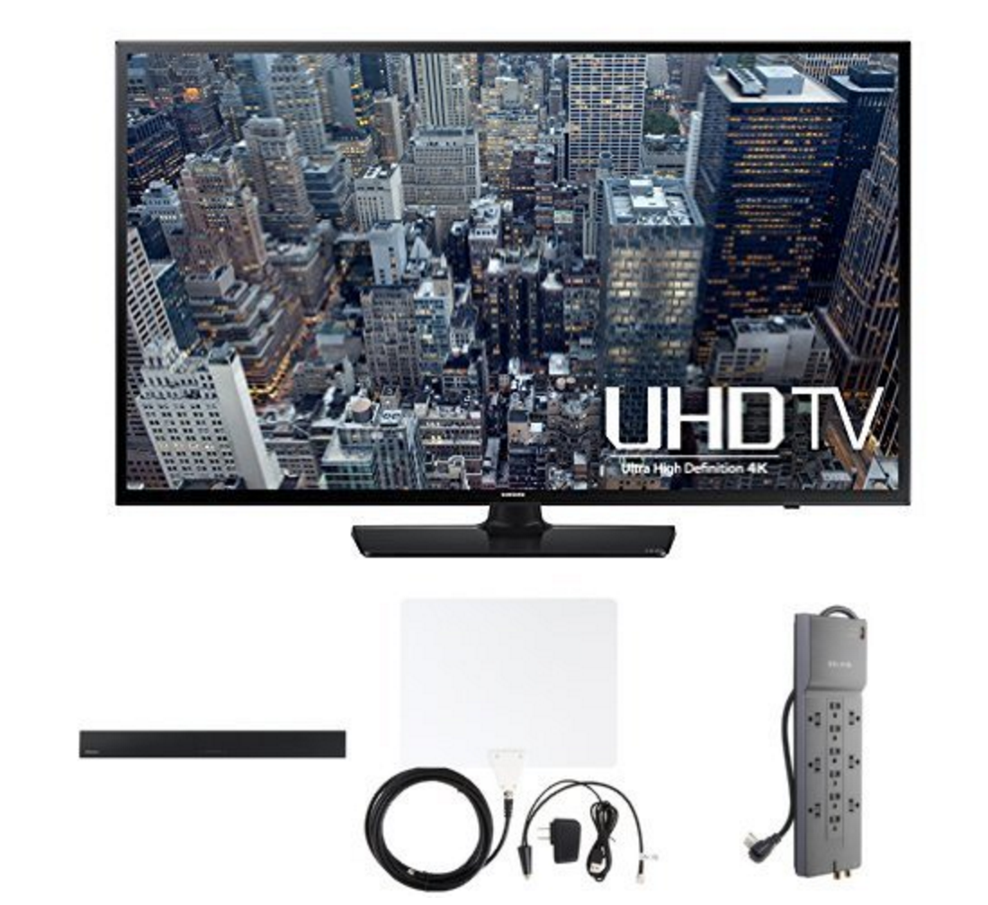 Samsung 48-Inch 4K TV With Home Theater Bundle Only $599 (Reg. $1,179.95!)